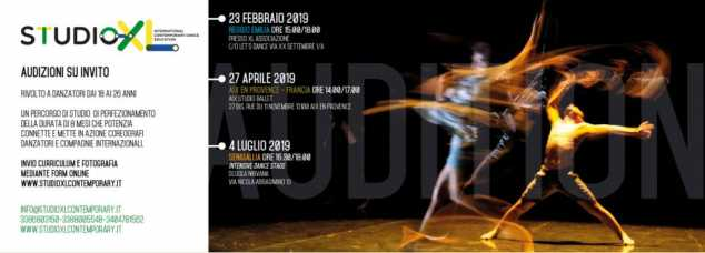 Foto: Audizioni STUDIOXL International Contemporary Dance Education
